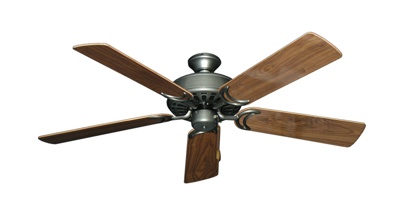 """Picture of Dixie Belle Brushed Nickel with 52"""" Walnut Gloss Blades"""