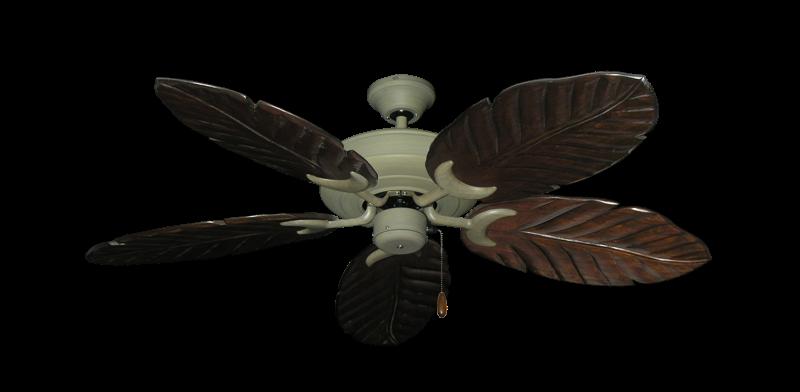 """Picture of Raindance Driftwood with 52"""" Series 125 Arbor Dark Walnut Blades"""