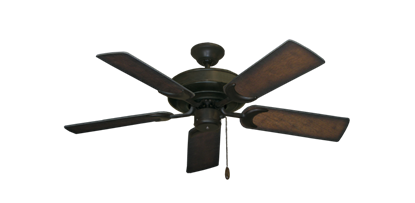 """Picture of Raindance Oil Rubbed Bronze with 44"""" Distressed Hickory Blades"""