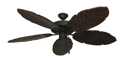 "Picture of Raindance Oil Rubbed Bronze with 58"" Series 100 Arbor Dark Walnut Blades"