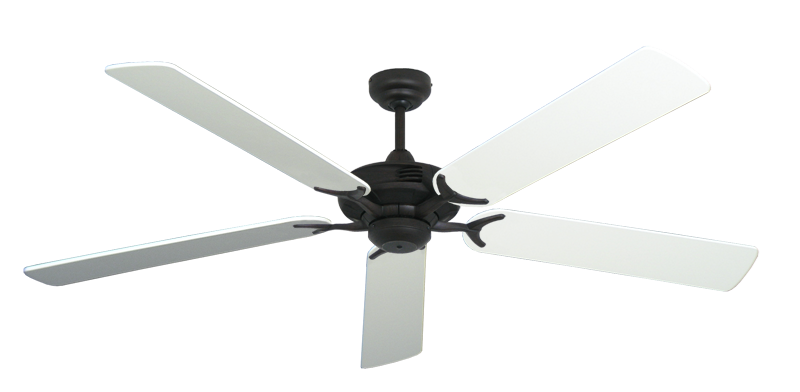 """Picture of Coastal Air Oil Rubbed Bronze with 60"""" Pure White Blades"""