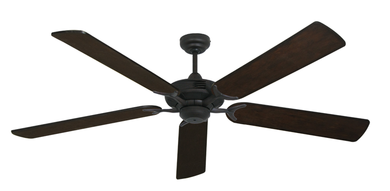 """Picture of Coastal Air Oil Rubbed Bronze with 60"""" Distressed Walnut Blades"""