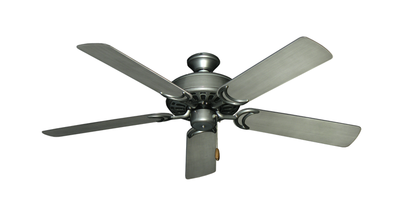 "Picture of Dixie Belle Brushed Nickel with 52"" Outdoor Brushed Nickel BN-1 Blades"