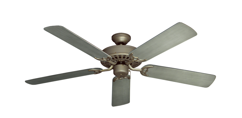 """Picture of Bimini Breeze V Antique Bronze with 52"""" Outdoor Brushed Nickel BN-1 Blades"""