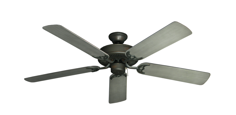"Picture of Bermuda Breeze V Oil Rubbed Bronze with 52"" Outdoor Brushed Nickel BN-1 Blades"