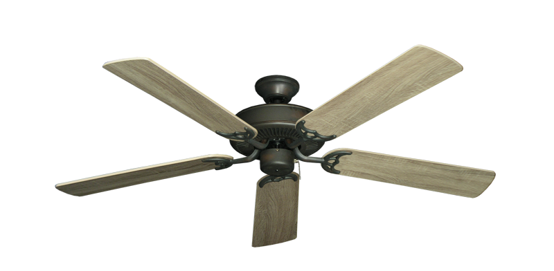 "Bermuda Breeze V Oil Rubbed Bronze with 52"" Beachwood Blades"