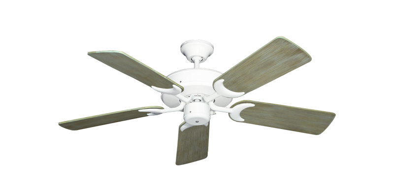 "Picture of Patio Fan Pure White with 44"" Driftwood Blades"