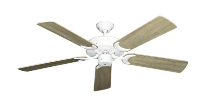 "Picture of Patio Fan Pure White with 52"" Beachwood Blades"