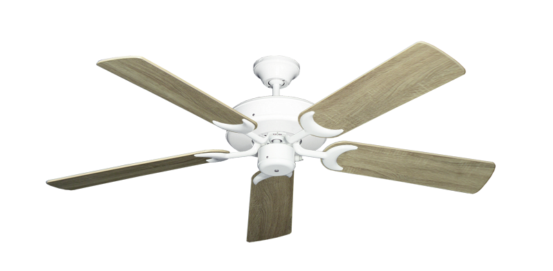 """Picture of Patio Fan Pure White with 52"""" Beachwood Blades"""