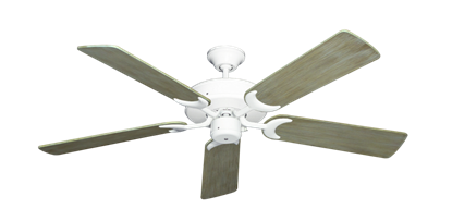 "Picture of Patio Fan Pure White with 52"" Driftwood Blades"
