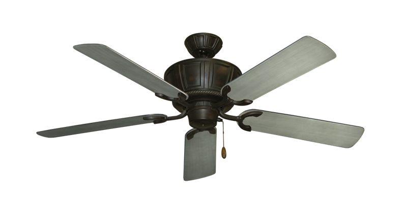 """Picture of Centurion Oil Rubbed Bronze with 52"""" Outdoor Brushed Nickel BN-1 Blades"""