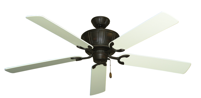 "Picture of Centurion Oil Rubbed Bronze with 60"" Antique White Blades"