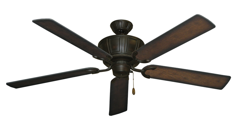 """Centurion Oil Rubbed Bronze with 60"""" Distressed Hickory Blades"""