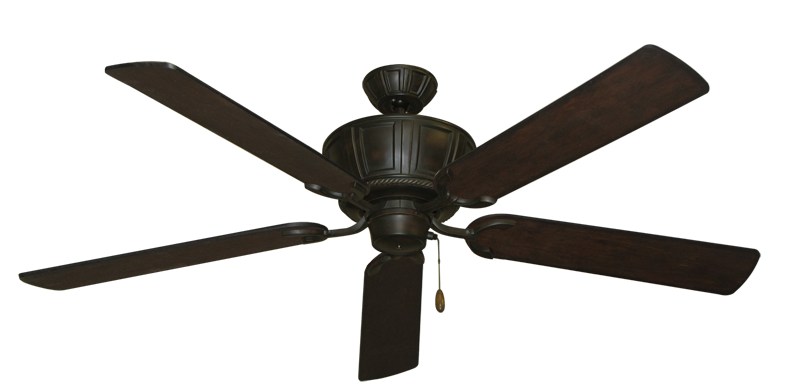 """Centurion Oil Rubbed Bronze with 60"""" Distressed Walnut Blades"""