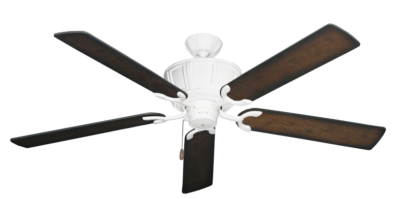 """Picture of Centurion Pure White with 60"""" Distressed Hickory Blades"""