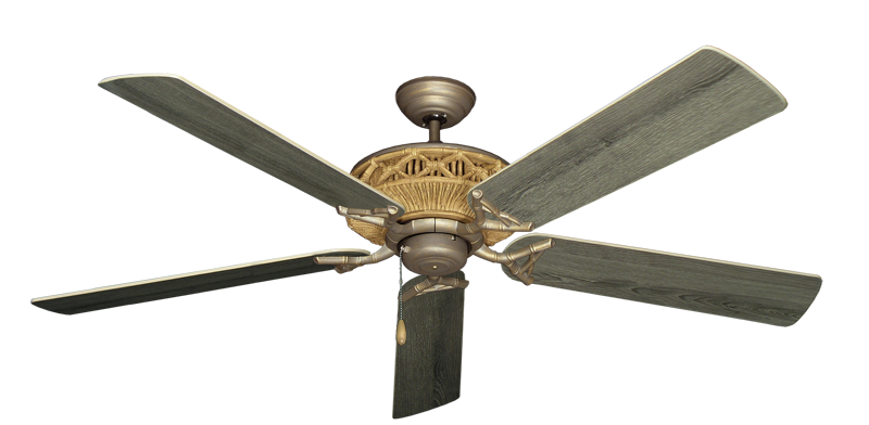 """Picture of Tiki Antique Bronze with 60"""" Barnwood Blades"""