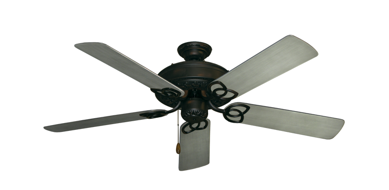 "Picture of Renaissance Oil Rubbed Bronze with 52"" Outdoor Brushed Nickel BN-1 Blades"