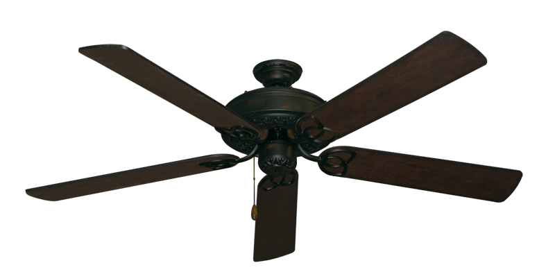 """Picture of Renaissance Oil Rubbed Bronze with 60"""" Distressed Walnut Blades"""