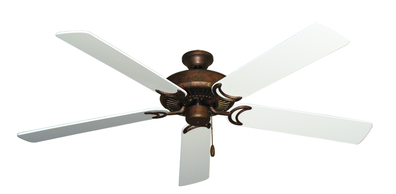 """Picture of Riviera Burnished Copper with 60"""" Pure White Blades"""