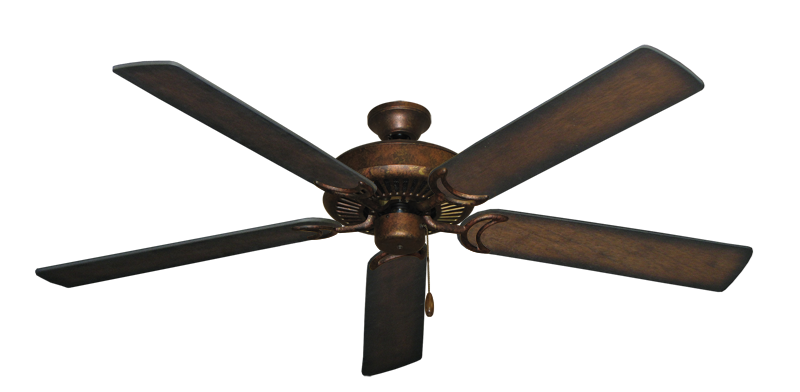 """Picture of Riviera Burnished Copper with 60"""" Distressed Hickory Blades"""