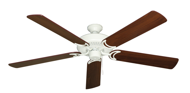 """Picture of Riviera Matte Pure White with 60"""" Walnut Blades"""