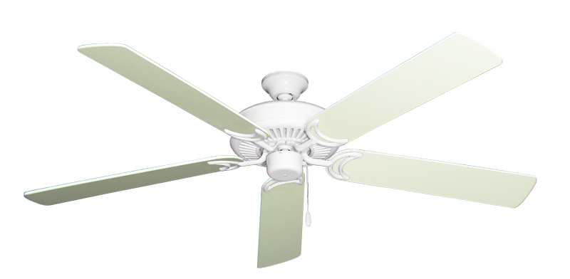 """Picture of Riviera Pure White with 60"""" Antique White Blades"""