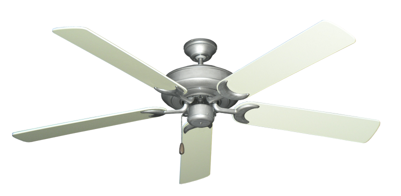 """Picture of Raindance Brushed Nickel BN-1 with 60"""" Antique White Blades"""