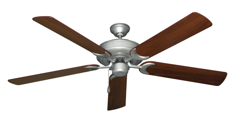 """Picture of Raindance Brushed Nickel BN-1 with 60"""" Walnut Blades"""