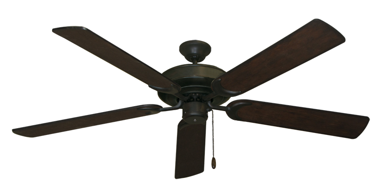 """Picture of Raindance Oil Rubbed Bronze with 60"""" Distressed Walnut Blades"""