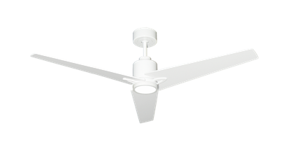 "Picture of Reveal 52"" WiFi Enabled Indoor/Outdoor Modern Ceiling Fan in Pure White with Remote and LED Light"