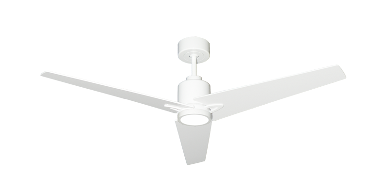 Reveal 52 Indoor Outdoor Modern Ceiling Fan In Pure White With Remote And Led Light Dan S Fan City C Ceiling Fans Fan Parts Accessories