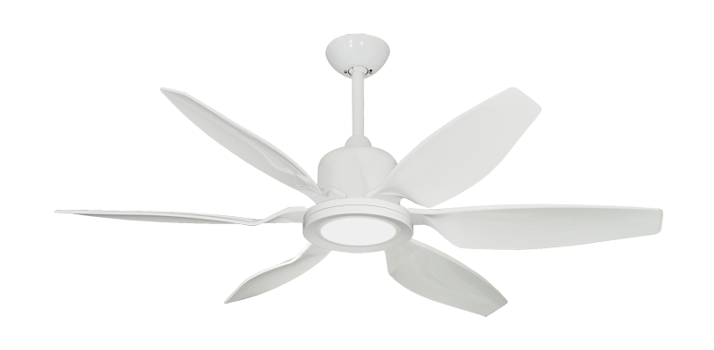 """Titan II Pure White with 52"""" Resin Pure White Blades with 18W LED Array Light and Remote"""