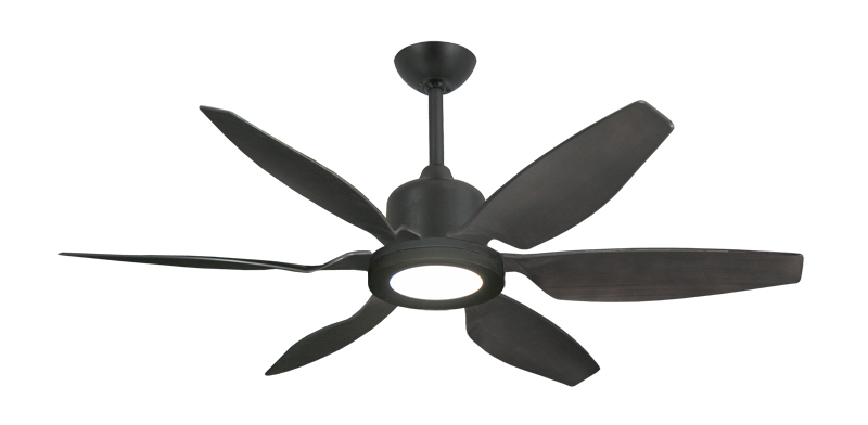 """Titan II Oil Rubbed Bronze with 52"""" Resin Oil Rubbed Bronze Blades with 18W LED Array Light and Remote"""