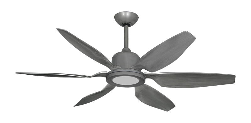 "Picture of Titan II Brushed Nickel with 52"" Resin Brushed Nickel Blades with 18W LED Array Light and Remote"