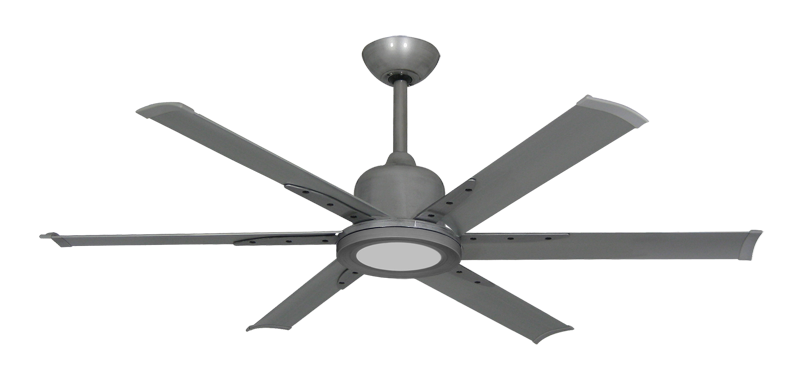 """Picture of Titan II Brushed Nickel with 52"""" Aluminum Brushed Nickel Blades with 18W LED Array Light and Remote"""
