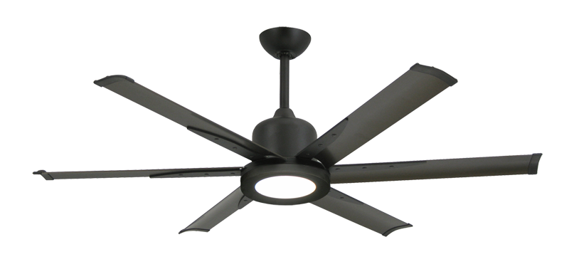 """Titan II Oil Rubbed Bronze with 52"""" Aluminum Oil Rubbed Bronze Blades with 18W LED Array Light and Remote"""