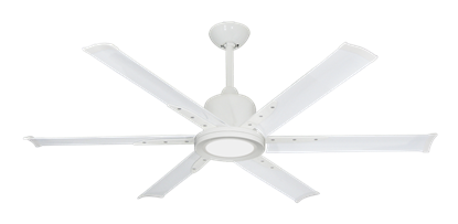 """Titan II Pure White with 52"""" Aluminum Pure White Blades with 18W LED Array Light and Remote"""