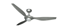 Vogue Plus 60 in. WiFi Enabled Indoor/Outdoor Brushed Nickel Ceiling Fan with LED Light