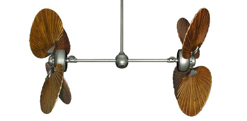 """Picture of Twin Star III Brushed Nickel with 50"""" Series 900 Arbor Walnut Blades"""