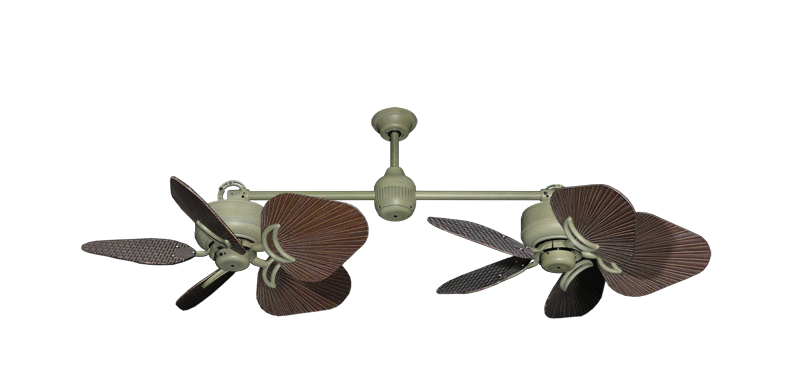 """Picture of Twin Star III Driftwood with 35"""" Leaf Oil Rubbed Bronze Blades"""
