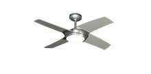 Starfire 42 in. Brushed Nickel BN-1 Ceiling Fan with LED Light and Remote