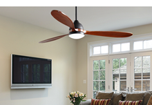 """Koho 52"""" Indoor Contemporary Oil Rubbed Bronze Ceiling Fan with LED Light and Remote"""
