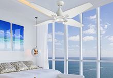 """Picture of Reno 50"""" Indoor Contemporary Pure White Ceiling Fan"""