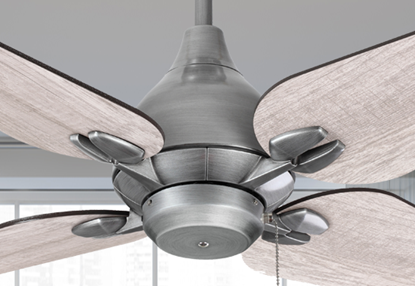 "Reno 50"" Indoor Contemporary Brushed Nickel Ceiling Fan"