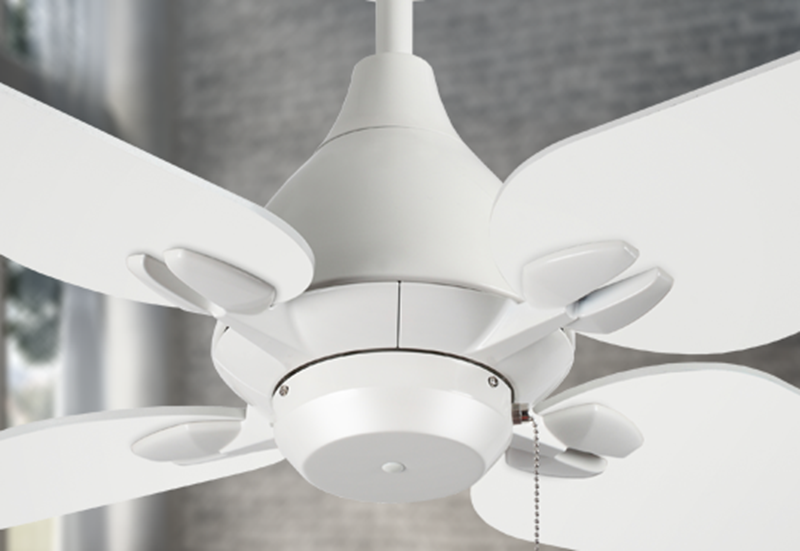 "Reno 50"" Indoor Contemporary Pure White Ceiling Fan"