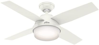 "Picture of Hunter  44"" Dempsey Fresh White Ceiling Fan with Light with Handheld Remote, Model 59246"