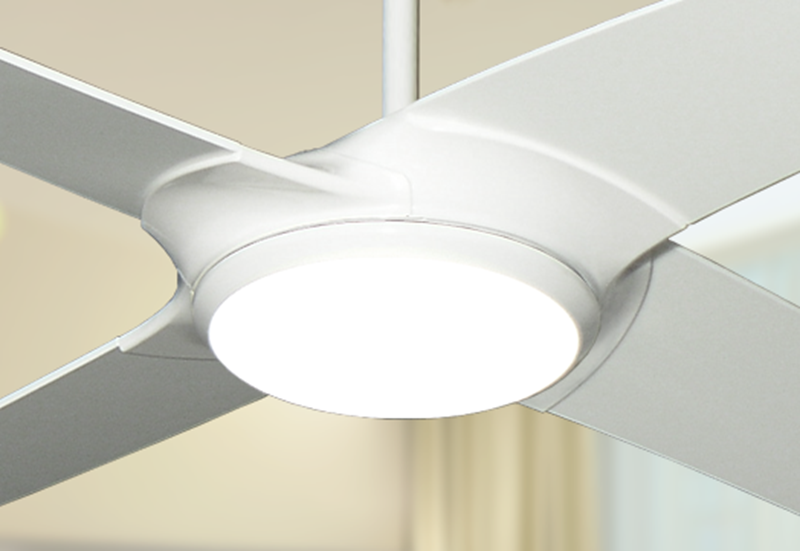 Starfire 56 in. Pure White Ceiling Fan with LED Light
