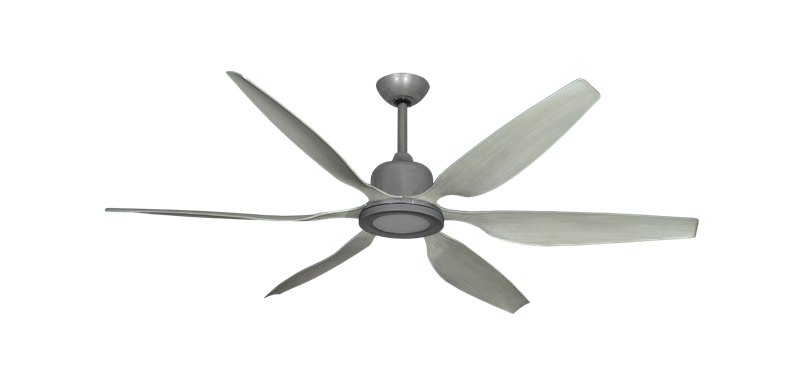 """Titan II Brushed Nickel with 66"""" Resin Stone Blades with 18W LED Array Light and Remote"""