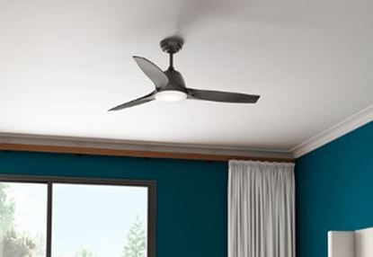 """Casablanca 52"""" Wisp Noble Bronze Ceiling Fan with LED Light and Handheld Remote, Model 59285"""