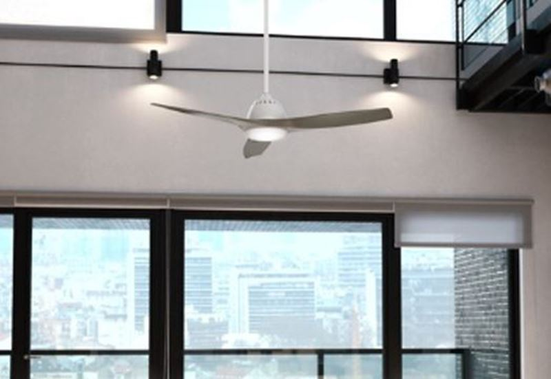 """Casablanca 52"""" Wisp Fresh White Ceiling Fan with LED Light and Handheld Remote, Model 59151"""